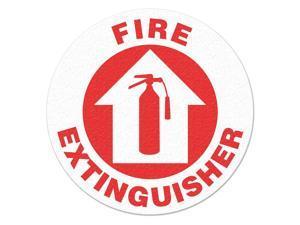 INCOM MANUFACTURING Safety Floor Sign, Fire Extinguisher FS1011V