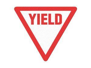 INCOM MANUFACTURING Safety Floor Sign, Yield FS1035V