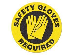INCOM MANUFACTURING Safety Floor Sign, Safety Gloves Required FS1028V