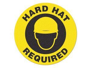 INCOM MANUFACTURING Safety Floor Sign, Hard Hat Required FS1014V