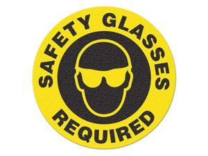 INCOM MANUFACTURING Safety Floor Sign, Safety Glasses Requird FS1027V