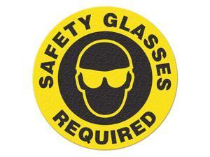 INCOM MANUFACTURING Safety Floor Sign, Safety Glasses Requird FS1027V