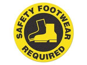 INCOM MANUFACTURING Safety Floor Sign, SafetyFootwearRequired FS1026V