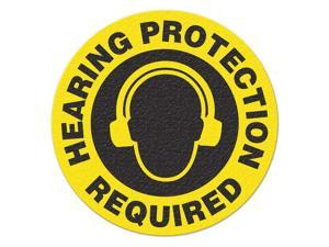 INCOM MANUFACTURING SafetyFloorSign, HearingProtectionRequird FS1015V