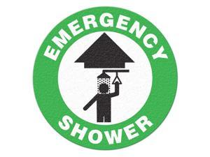 INCOM MANUFACTURING Safety Floor Sign, Emergency Shower FS1003V