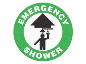 INCOM MANUFACTURING Safety Floor Sign, Emergency Shower FS1003V