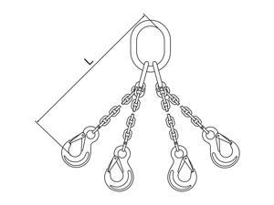 PEWAG 5 ft. Painted Alloy Steel Chain Sling with QOS Sling Type 7G120QOS/5