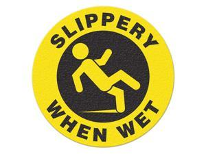 INCOM MANUFACTURING Safety Floor Sign, Slippery When Wet FS1029V
