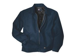 DICKIES Jacket, Insulated, Poly/Cotton, Navy, XLT TJ15DN-XLTall