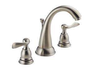 Delta Faucet 2h Stainless Steel Lavatory Faucet with Popup 35996LF-BN-ECO
