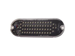 ECCO Warning Light, LED, Amber, Surface, Rect, 5 L SLWIC35A