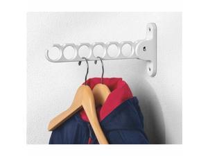 "Spectrum Hanger Holder Color: White (Size: 11 3/4"" H x 2 "" W x 1 1/4"" D) (Pack of 2)"