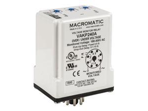 MACROMATIC VWKE120A Voltage Monitor Relay,SPDT,80-150VAC