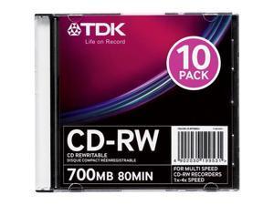 Imation 48013 CD Rewritable Media - CD-RW - 4x - 700 MB - 10 Pack Slim Jewel Case