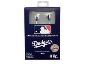 MLB Logo Baseball Earbuds - Los Angeles Dodgers