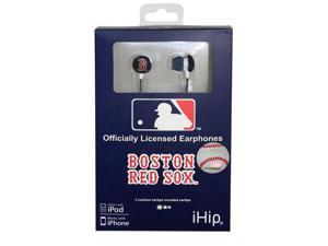 MLB Logo Baseball Earbuds - Boston Red Sox