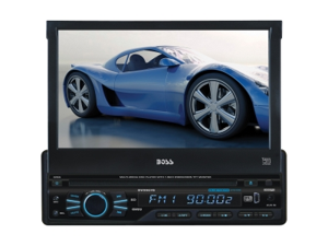 "Boss BV9967BI Single-DIN 7"" Touchscreen Bluetooth DVD Receiver"