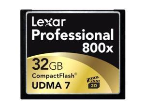 Lexar Professional 32GB Compact Flash (CF) Flash Card Model LCF32GCTBNA800