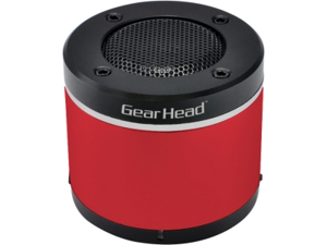 Gear Head BT3000RED Speaker System - Wireless Speaker(s) - Red - Bluetooth - USB - iPod Supported