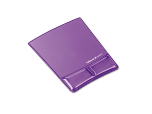 Mouse Pad w/Gel Wrist Support Microban Purple