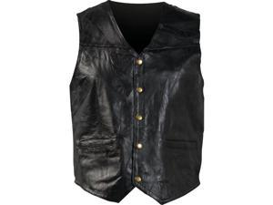 Giovanni Navarre Italian Stone Design Genuine Leather Vest