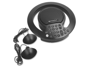 Aura SoHo Plus Conference Phone 3 Built-In/2 External Microphones Black