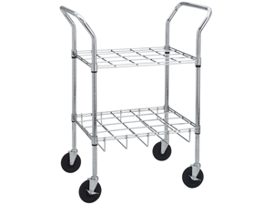 Oxygen Cylinder Carts for E, D, C or M9 Cylinders , Size: Holds 20 Cylinders