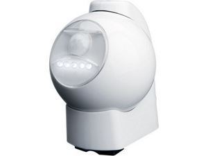 Maxsa 40231 Battery-Powered Motion-Activated LED Outdoor Light, White