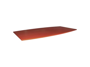 """Lorell 69120 Essentials Boat Shaped Conference Table Top 96"""" W x 48"""" D - Cherry, Laminate"""