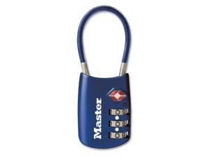 Master Lock 4688D Combination Padlock, Side, 3 Dial, Blue