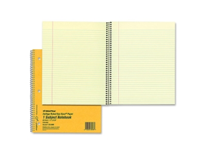 Rediform College Ruled Brown Board Cvr Notebook 12 EA/BX