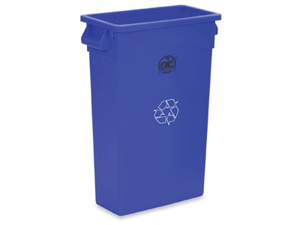 """Recycling Container 23 Gallon 22-1/2""""x11""""x30"""" Blue"""