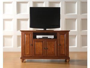 "Crosley Cambridge 48"" TV Stand in Classic Cherry"