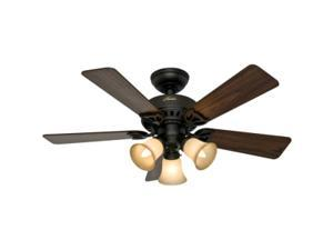 53082 Beacon Hill 42 in. Traditional Bronze Cherry Walnut Indoor Ceiling Fan with 3 Lights