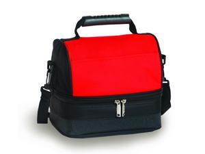 Picnic Plus Columbus Lunch Tote-Black/Red