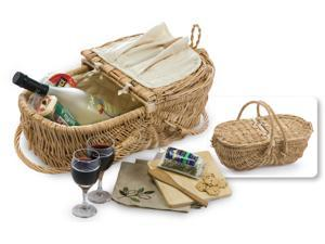 Picnic Plus Eco Wine & Cheese Basket-Natural