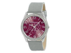 Game Time Silver Glitz Watch - Texas A&M