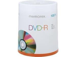 Memorex DVD Recordable Media - DVD-R - 16x - 4.70 GB - 100 Pack Spindle