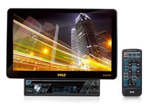 PylePro 10.1'' Motorized TFT/LCD Touch Screen Detachable Display DVD/VCD/CD/MP3/CD-R/USB/AM/FM/RDS Receiver w/ Bluetooth System and AUX A/V Input For iPod/Smart Phones/MP3 Players PLD101BT
