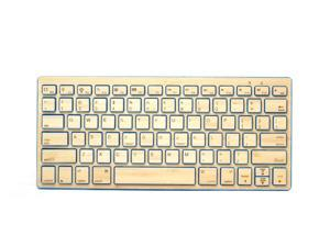 Impecca KBB78BTB Bamboo Bluetooth Keyboard - Blue