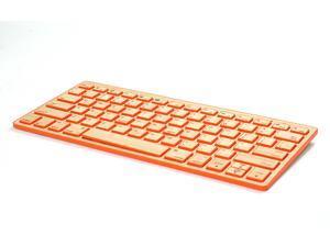Impecca KBB78BTO Bamboo Bluetooth Keyboard - Orange