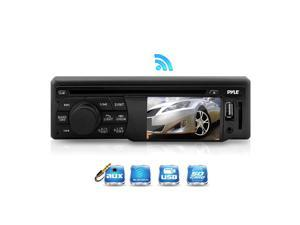 Bluetooth In-Dash Digital Receiver Headunit Media Player with 3'' LCD Monitor Display Screen, CD/DVD Player, AM/FM Radio, USB/SD Card Readers, AUX (3.5mm) Input, Single-Din