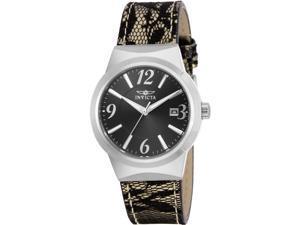 New Invicta INV5807 Women Angel Leather Strap Watch 17299 BRN/BLK