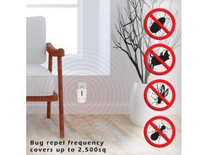 Electronic Rodent & Bug Repeller, Plug-in Pest Control (Works for Rats, Mice, Cockroaches, Ants)