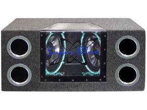 Pyramid - Dual 12'' 1200 Watt Bandpass Speaker System w/Neon Accent Lighting