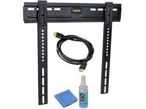 Pyle - HDTV Video Kit with LED TV Wall Mount, HDMI Cable, and Screen Cleaner For 26' to 42' Flat Panel TV