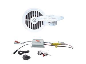 Pyle - 2 Channel Waterproof MP3/ Ipod Marine Power Amplifier + 5 ¼'' Dual Cone Waterproof Stereo Speaker System