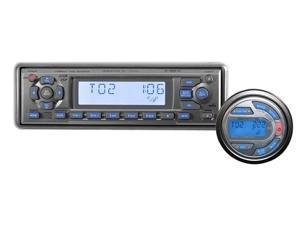 BrandX - AM/FM-MPX In-Dash Marine CD/MP3/WMA Detachable Face Plate Player w/XM Ready/ I-Pod Ready/ USB/ Wired Remote (Refurbished)