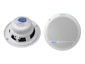 Lanzar - 360 Watts 6.5'' Dual Cone Marine Speakers (White Color)
