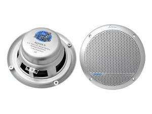 Lanzar - 300 Watts 5.25'' Dual Cone Marine Speakers (Silver Color)